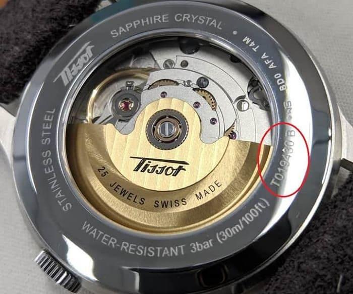 kiểm tra serial đồng hồ tissot