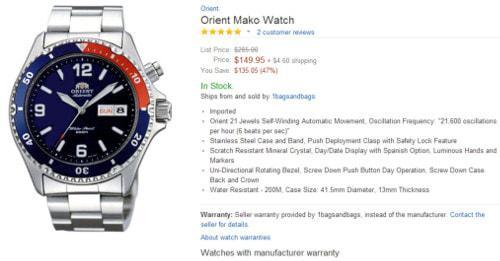 cách mua đồng hồ sale off trên amazon