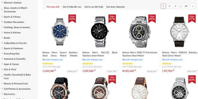 có nên mua đồng hồ trên amazon