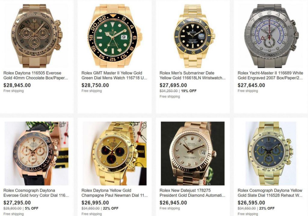 mua đồng hồ trên ebay