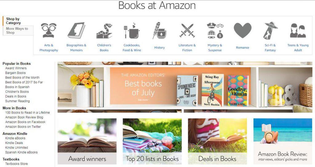 mua sách trên amazon
