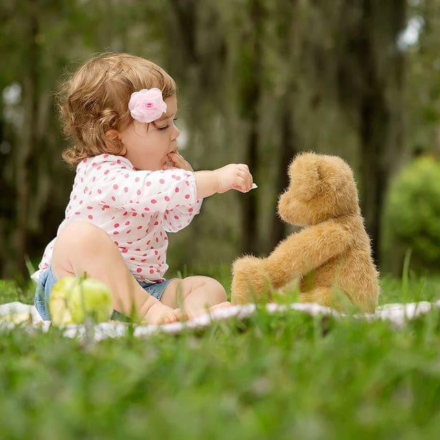 Gấu bông cho bé gái 2 tuổi