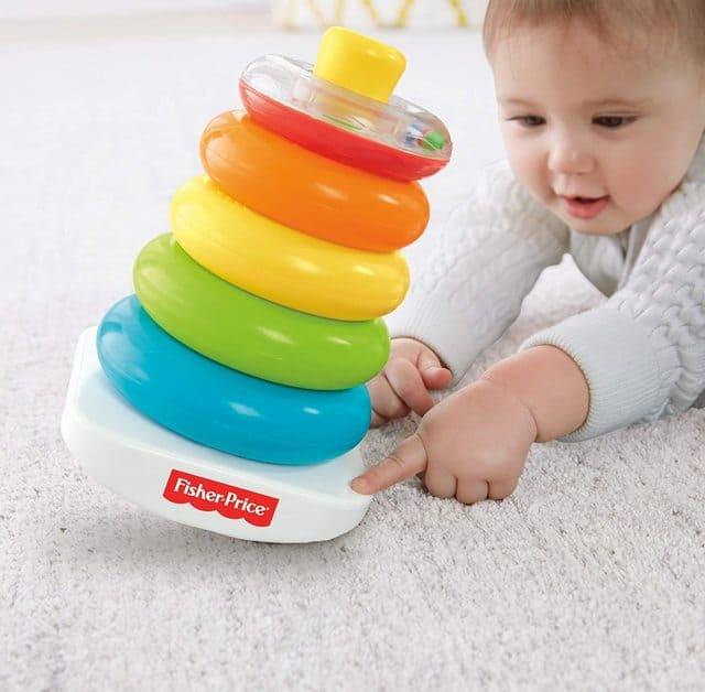 Đồ chơi Brilliant Basics Rock-a-Stack cho bé gái 1 tuổi