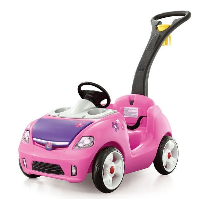 Xe đẩy mô hình ô tô mày hồng