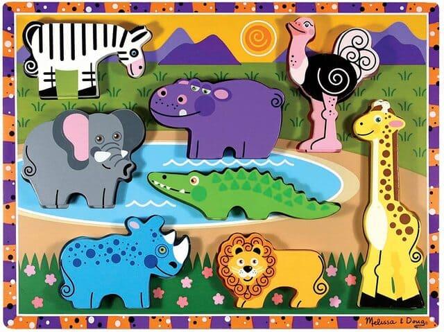Bộ đồ chơi xếp hình động vật bằng gỗ