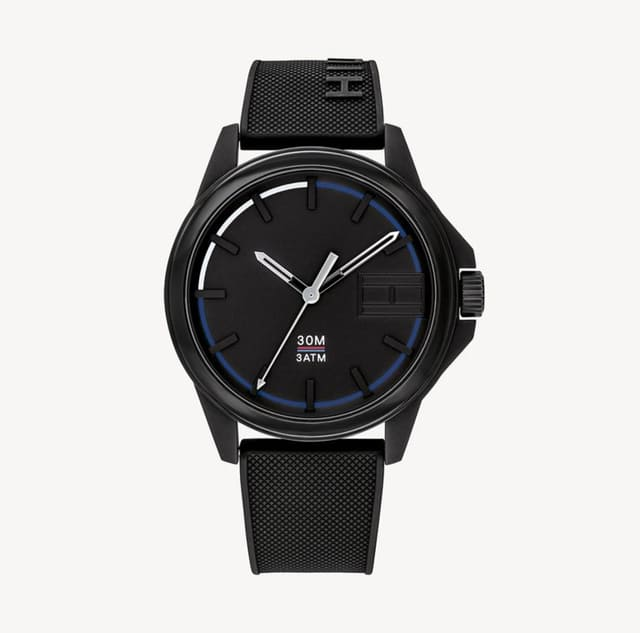 SPORT WATCH WITH BLACK SILICON