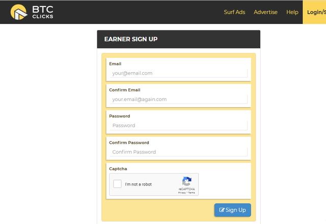 Điền đầu đủ thông tin để đăng ký tài khoản đào Bitcoin