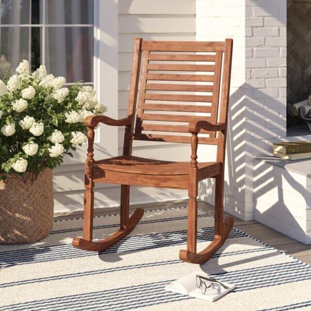 ghế bập bênh gỗ