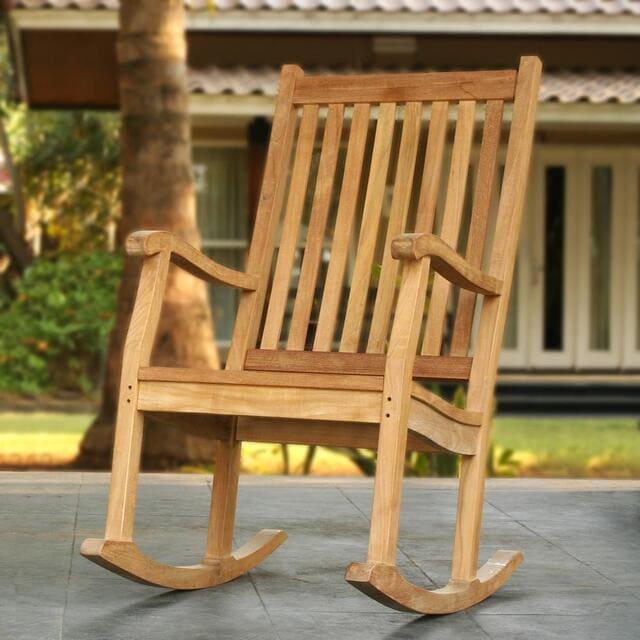 Ghế bập bênh cho người lớn bằng gỗ keo