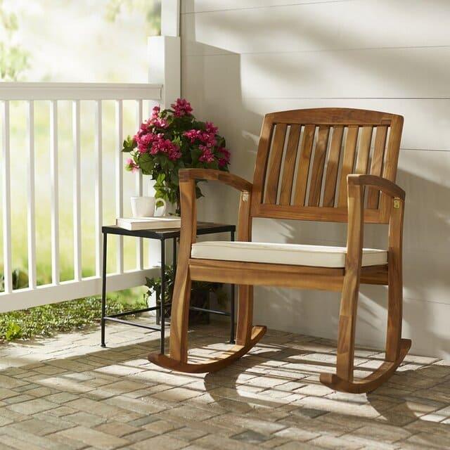 Mẫu ghế bập bênh bằng gỗ