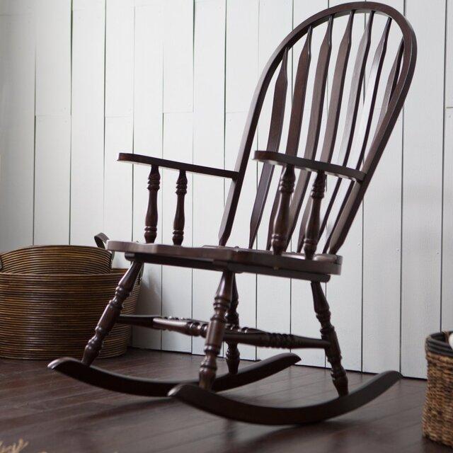 Ghế bập bênh đọc sách bằng gỗ cổ điển
