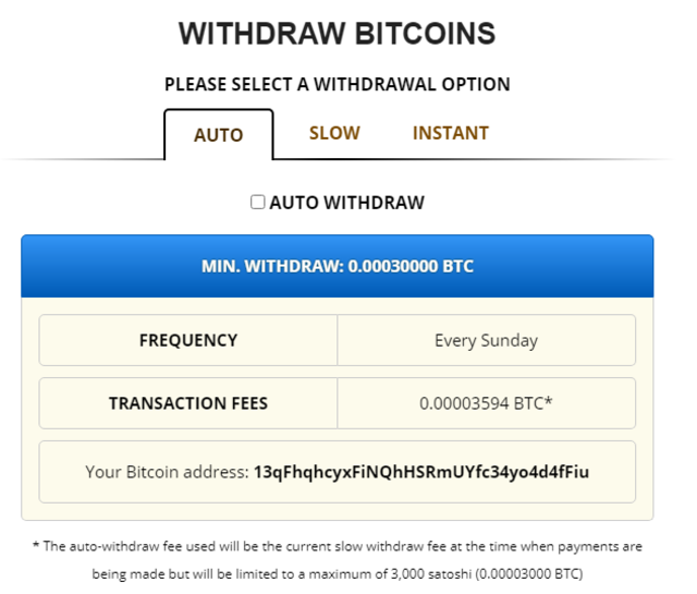 WITH DRAW BITCOIN