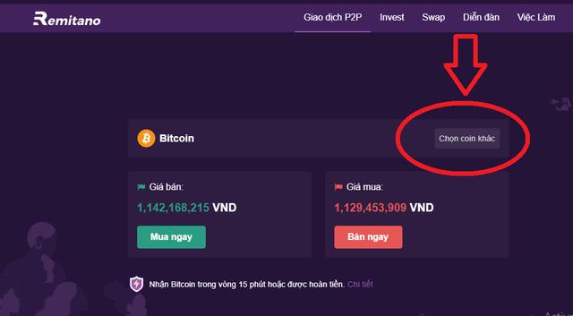 chọn đồng tiền ảo khác ngoài Bitcoin