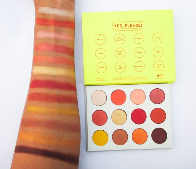 Swatches Colourpop Yes Please