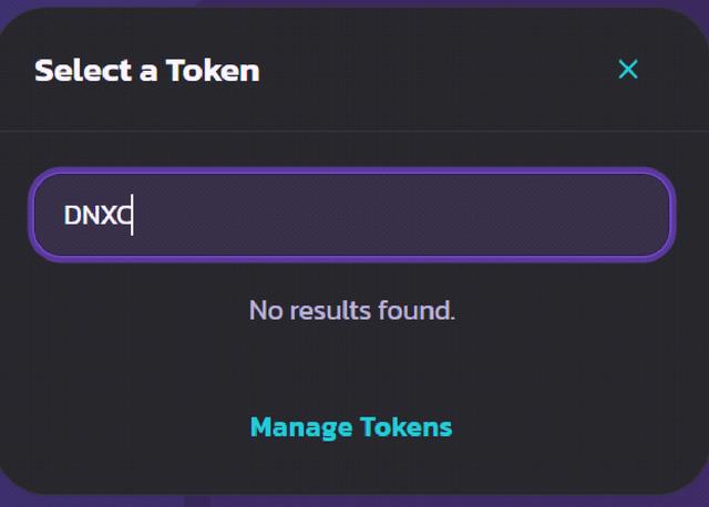 Select Token
