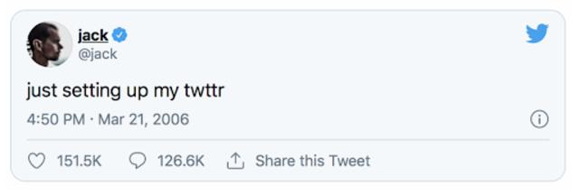 Dòng tweet ĐẦU TIÊN của CEO Twitter Jack Dorsey